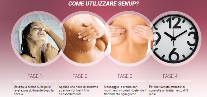 Come si usa la crema per il seno SenUp