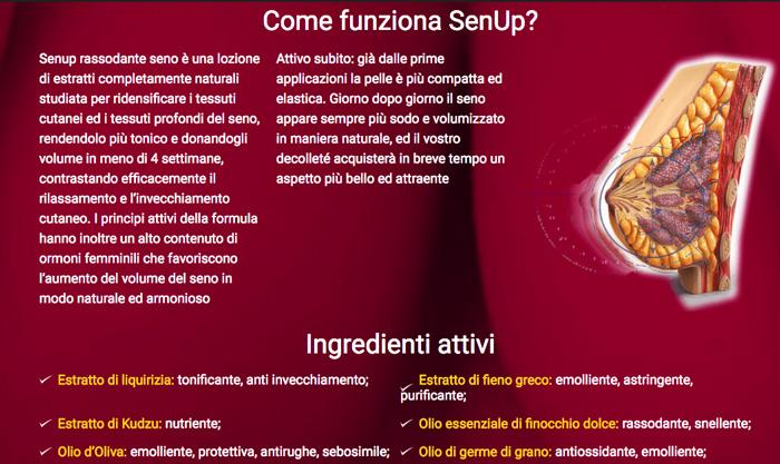 Come ottiene risultati la crema SenUp