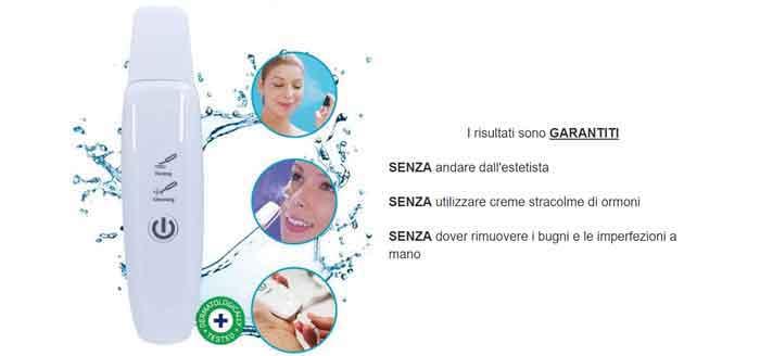 dispositivo a ultrasuoni skin scrubber