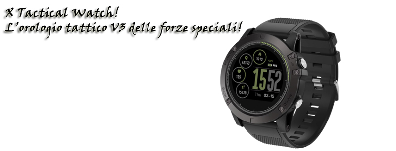 X Tactical Watch orlogio tattico delle forze speciali