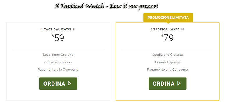 Prezzo di X Tactical Watch