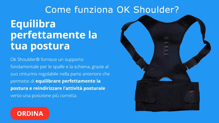 Funzionamento della fascia posturale OK Shoulder