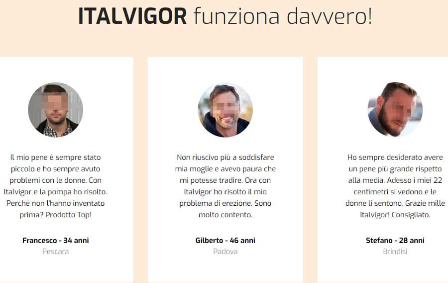Opinioni di chi ha provato Italvigor