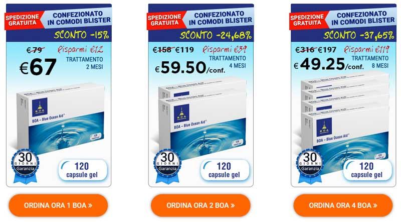 Blue ocean aid costo del prodotto