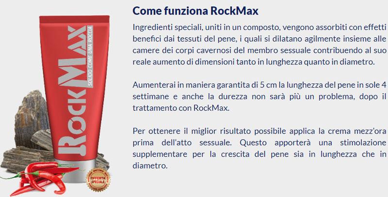 Funzionamento della crema per il pene Rock Max