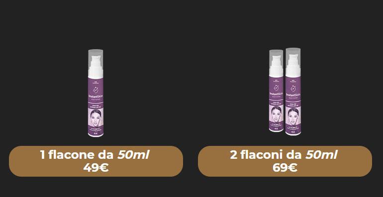Costo di Instant Skin