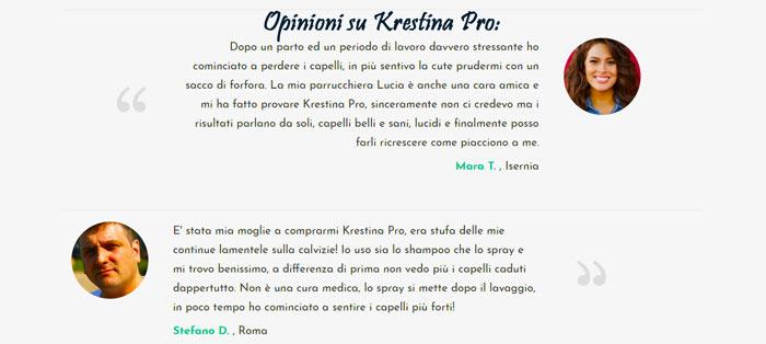 Opinioni di chi ha provato Krestina Pro