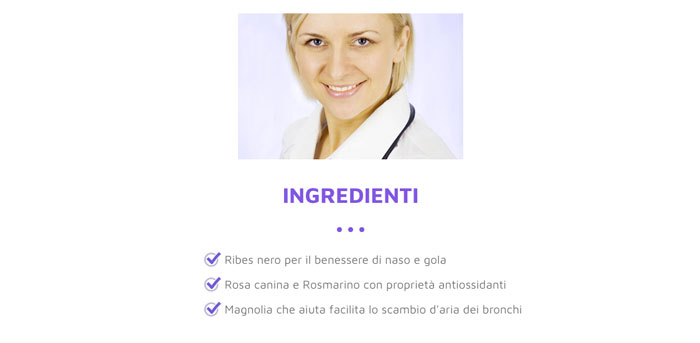 Ingredienti di oK respira